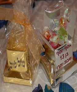 תפילין זהב/כסף עם סוכריות